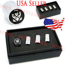 Transformer Decepticons Autobots Logo Tire Valve Wheels Stems Dust Caps Emblem