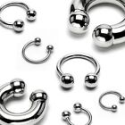 Surgical Steel Horseshoe - Lip Nose Septum Nipple Ear - Various Sizes Available