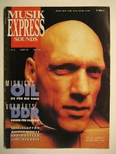 MUSIK EXPRESS SOUNDS 1990 # 3 - MIDNIGHT OIL ERIC CLAPTON SPRINGSTEEN HENDRIX