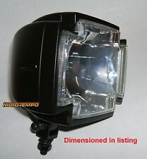 SATIN BLACK GOTHIC CROSS HEADLIGHT Motorcycle Chopper Cafe Bobber Custom
