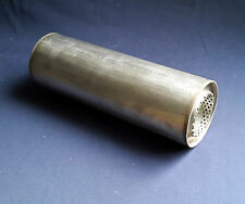 "63mm bore (2½"") 4"" Round x 10"" Long Universal Stainless steel exhaust silencer"