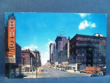 Postcard NE Omaha 1950's 16th Street View Old Cars & Stores