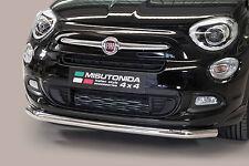 PROTEZIONE ANTERIORE LARGE BAR MISUTONIDA INOX D.63 PER FIAT 500 X - '15   .