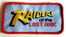 "Indiana Jones Raiders Of The Lost Ark Logo 4"" Embroidered  Blue Patch (IJPA-08)"
