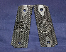1911 Texas State Seal Metal Pistol Grips  M1911 Clone models 3-1/16 Pewter Grips