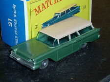 Matchbox Lesney Ford Fairlane Station Wagon 31 b8 GPW red base VNM & crafted box