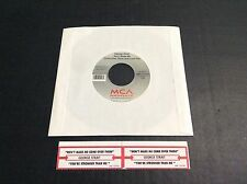 """NEW George Strait 7""""  45 Record """"DON'T MAKE ME COME OVER THERE AND LOVE YOU""""-NOS"""