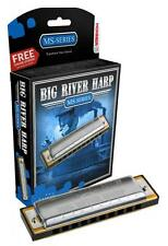 HOHNER Big River Harmonica, Key G, Germany, Diatonic, Includes Case, 590BL-G