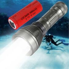 Underwater 100M 3500LM XML T6 LED Scuba Diving Flashlight Waterproof Torch 26650