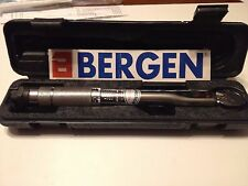 Bergen Tools 1/4'' DR Click Torque Wrench Micrometer 5 to 25Nm Pro Quality B6758