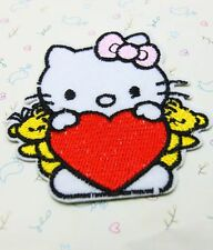1 Pcs Bear Love Hello Kitty sewing notions patch iron on embroidered appliques
