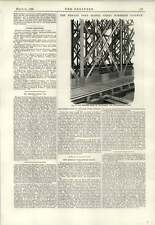 1890 Adjustment For Counter Braced Bars Newark Dyke Bridge Russian Volunteers