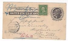 1901 UX14 Postal Card, Uprated, New York to Germany