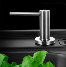 1X 304 Stainless Steel Solid Spot head Kitchen Sink Soap Dispenser Bottle 500ML