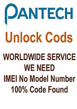 UNLOCK CODE FOR PANTECH Discover P9090 / Element 4100 AT & T