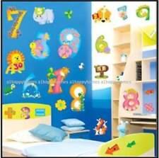 Gran 0-9 animales números de guardería para niños pegatinas de pared calcomanías de aprendizaje temprano