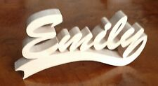 wood personalised name letter word sign symbol stand plaque block gift present