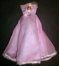 Barbie, Sindy doll clothes: Lilac long dress with flowers, ball gown DTW