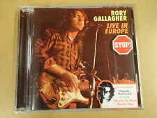 CD / RORY GALLAGHER - LIVE IN EUROPE