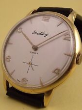 VINTAGE BREITLING MENS WATCH,GOLD PLATED, SWISS,OVERSIZED 39 mm !!