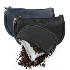 New Leather Cigarette Smoking Pipe Tobacco Pouch Case Bag to Preserve Freshness