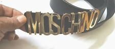 Moschino belt gold-colored letters