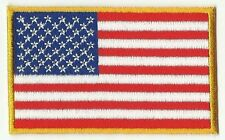 écusson ECUSSON  PATCHE THERMOCOLLANT DRAPEAU USA ETATS UNIS 8X5CM BORDURE JAUNE
