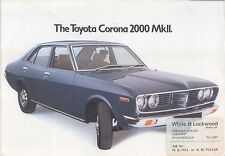 Toyota Corona Mark II 2000 Saloon Estate 1975 original UK Sales Brochure