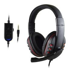 New Gaming Headset HI-FI Sound Voice Control Wired Quality For PS4 Black+Red Hot