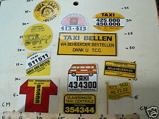 STICKER,DECALS SET TAXI CABS AND CARS 75 STICKERS TAXI BEDRIJVEN