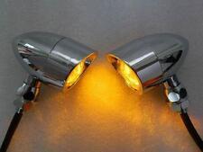 Motorcycle Chrome TURN SIGNAL AMBER LIGHT for Harley Sporster Softail Bobber