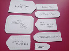 44 PAPERMANIA SENTIMENTS GREETINGS TAGS CARD MAKING SCRAPBOOKING EMBELLISHMENTS
