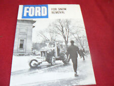 Ford Tractor For Snow Removal Dealer's Brochure AD-9051