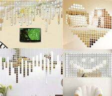 20X Acrylic ZOC Art 3D Wall Mirror Stickers DIY Home Room Decals Decor Removable