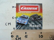 STICKER,DECAL OR CARD ? CARRERA ARE YOU READY FOR RACE MODELCARS