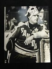 BOSTON BRUINS GERRY CHEEVERS AUTOGRAPHED TEAM CANADA 8X10 PHOTO W/COA