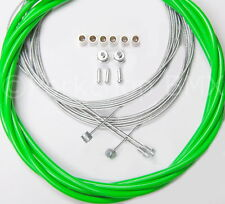 Bicycle 5mm LINED vintage ROAD bike brake cable housing kit  - GREEN