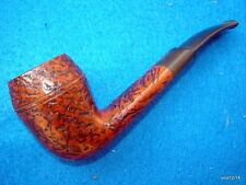 BARONTINI CORTINA BRIAR PIPE 1/8bent artfully scored ring-bowl~ready 4 smoking