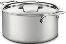 All-Clad BD55508 D5 Brushed 18/10 SS 5-Ply Bonded Dishwasher Safe 8-qt Stock Pot
