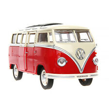 Meizhi Volkswagen VW T1 BUS Collection Red Bus Vehicle 1/24 Diecast Car Model