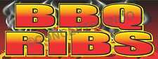 1.5'X4' BBQ RIBS BANNER Outdoor Sign Barbeque Chicken Pulled Pork Brisket Smoked