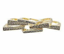 House of Harlow 1960 Kinetic Rings Gold Silver stack Crystal Ring Band 5pcs/Set