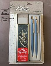 Mint Blue Parker Lady Classic BP & Pencil, Unopened in Original Blister Pack