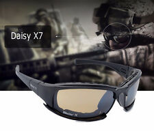 Daisy X7 Military Goggles Bullet-proof Army Sunglasses Eyewear Gafas w/4 Lenses
