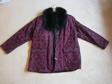 FABULOUS LACE AND BLACK FOX COAT WORN ONCE OR TWICE ONLY