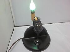 Vtg Art Deco HARLEQUIN Style Metal Lamp Light Works No Shade Selling As Is Pixie