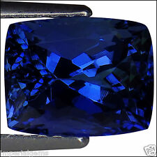 3.02 Ct IGI Certified AAA Natural D Block Tanzanite Blue Violet Cushion Cut