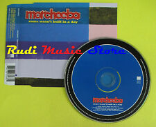 CD Singolo MORCHEEBA Rome wasn't built in a day 2000 germany no lp mc dvd  (S13)