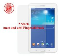 2x matte f Samsung Galaxy Tab 3 7.0 Lite Display Schutz Folie Anti Fingerabdruck