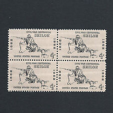 Battle of Shiloh Civil War Centennial - Vintage Set of 4 Stamps 54 Years Old!